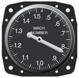 This mach meter reads about 0.83. Mine read 1.2